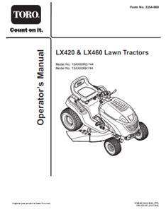 Toro Lx460 Repair Manual