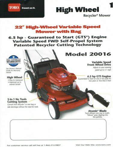 Toro Self Propelled Lawn Mower Repair Manual