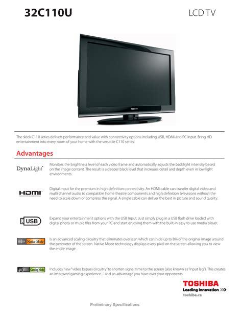 Toshiba 32c110u Manual