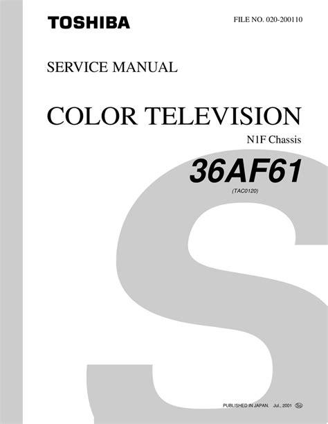 Toshiba 36af61 Color Tv Service Manual