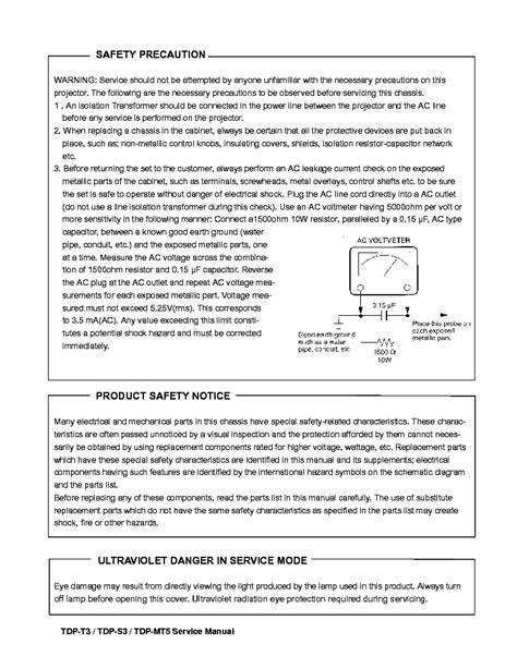 Toshiba Tdp S3 Tdp T3 Tdp Mt5 Service Manual