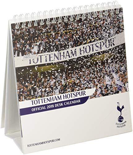 Tottenham Hotspur F.C Official Desk Easel 2018 Calendar - Month To View Desk Format (Desk Easel Calendar 2018)