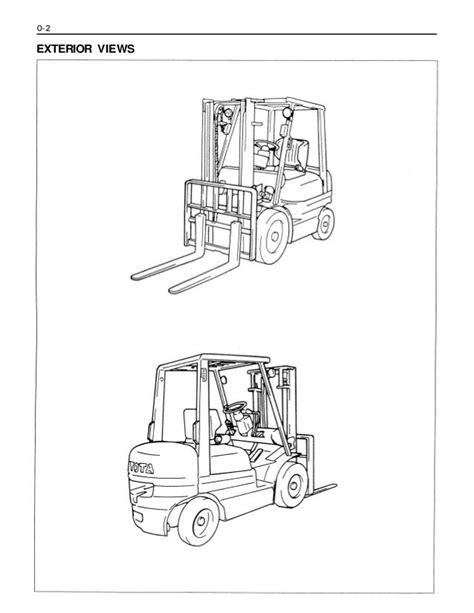 Toyota 42 6fga20 Forklift Factory Service Workshop Manual