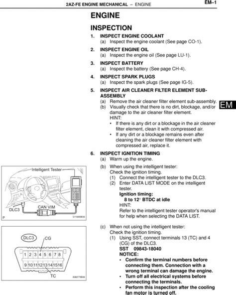 Toyota Alphard 2 4l 2az Fe Engine Workshop Repair Manual