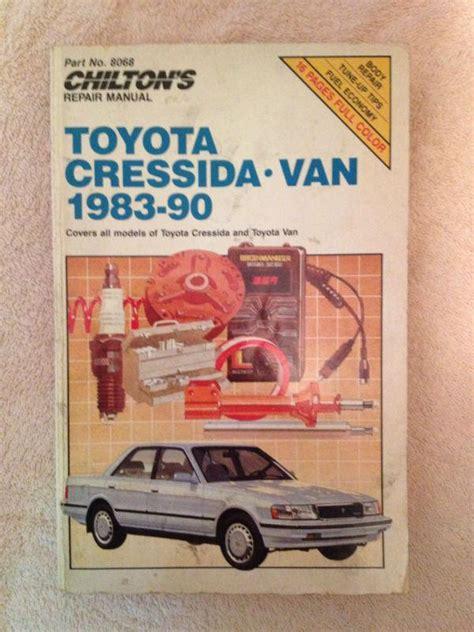 Toyota Cressida 1983 90 Manual