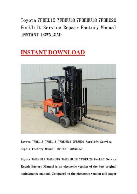 Toyota Forklift Brake Service Manual 7fbeu15