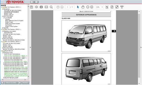 Toyota Hiace 3l Workshop Manual