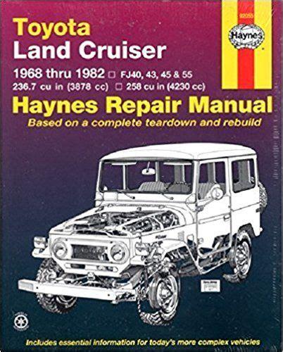Toyota Land Cruiser Fj40 43 45 55 60 6882 Haynes Repair Manual