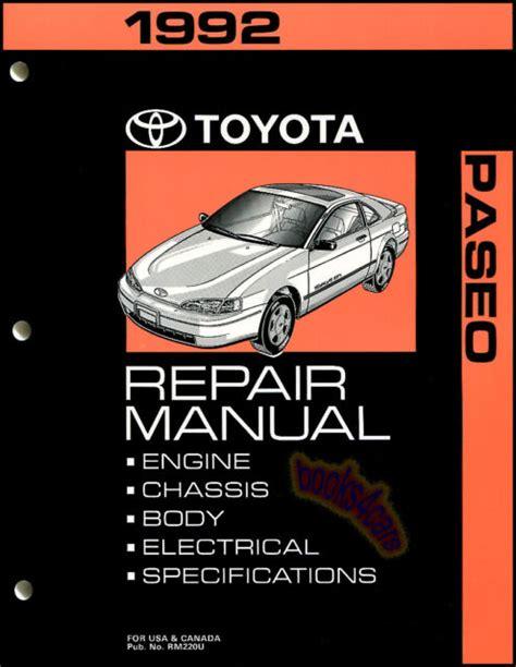 Toyota Paseo Haynes Manual