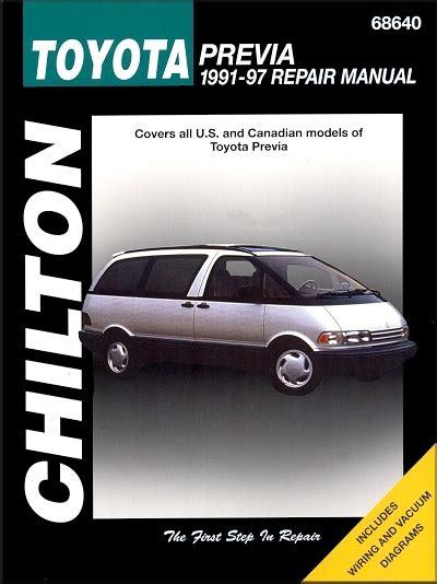 Toyota Previa Full Service Repair Manual 1991 1997