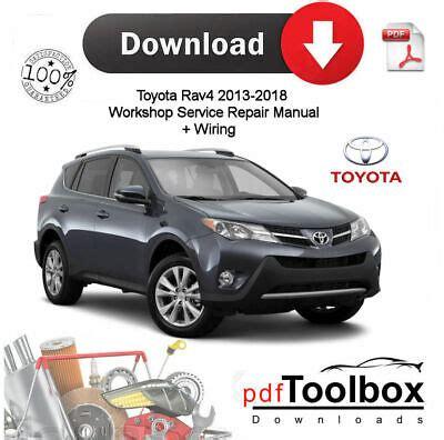 Toyota Rav4 2013 2018 Manual