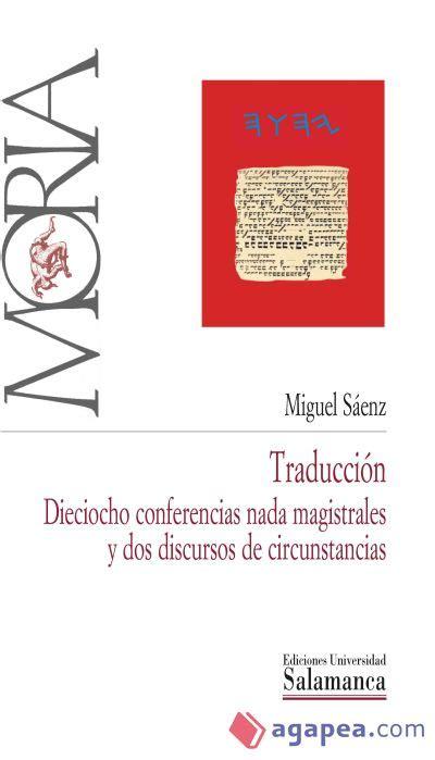 Traduccion Diociocho Conferencias Nada Magistrales Y Dos Discursos De Circunstancias