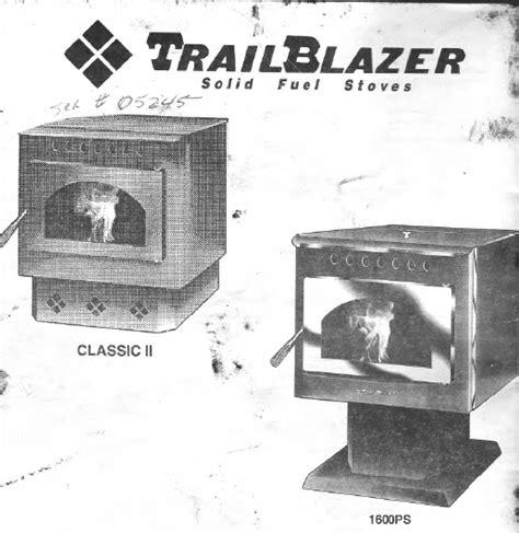 Trailblazer 1600 Pellet Stove Manual