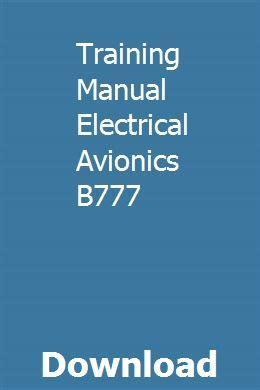 Training Manual Electrical Avionics B777