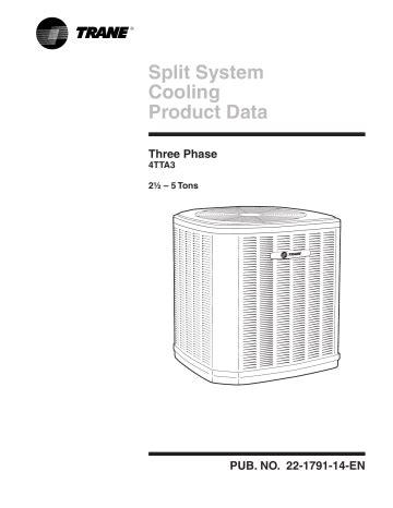 Trane Split System Cooling Manual