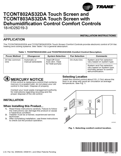 Trane Tcont802as32da Manual