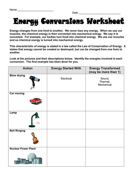 Transformation Station 1 Recording Sheet Answers