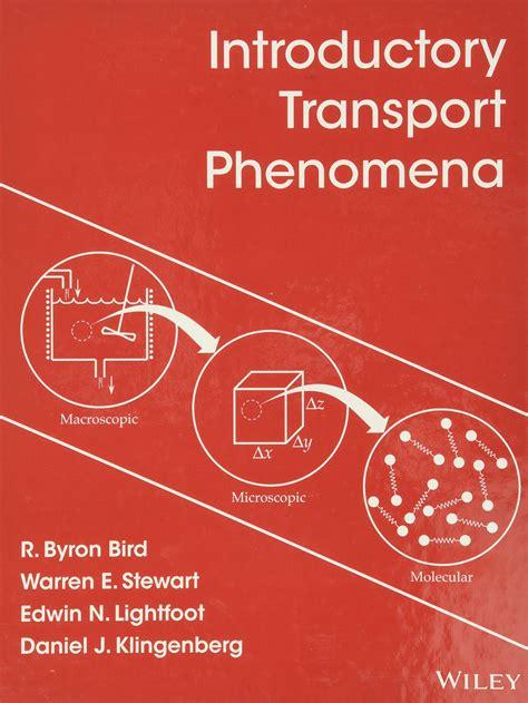 Transport Phenomena Bird Solutions Manual