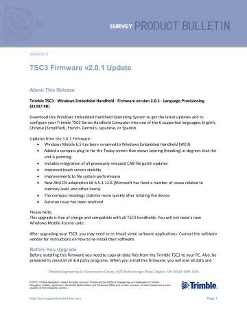 Trimble Tsc 3 User Manual