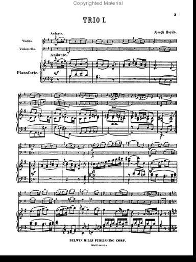 Trios For Violin Cello And Piano Vol 1 Nos 1 6 Kalmus Edition