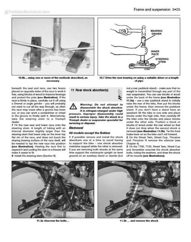 Triumph Bonneville Factory Service Manual