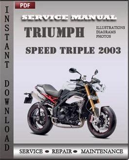 Triumph Speed Triple 2003 Factory Service Repair Manual