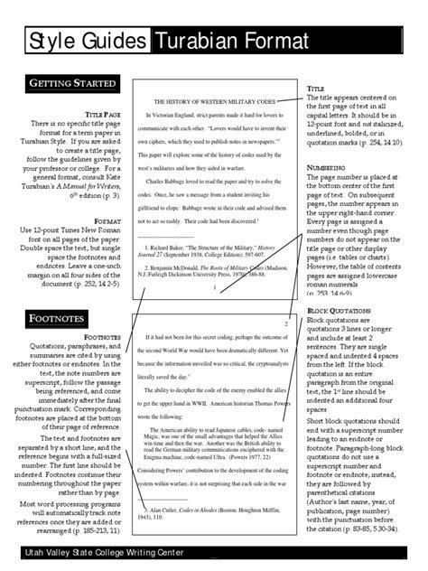 Turabian Manual