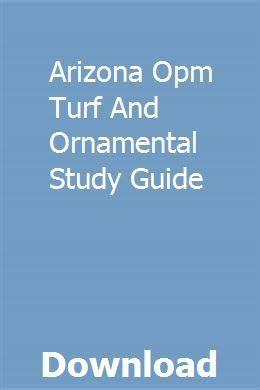 Turf And Ornamental Study Guide Arizona