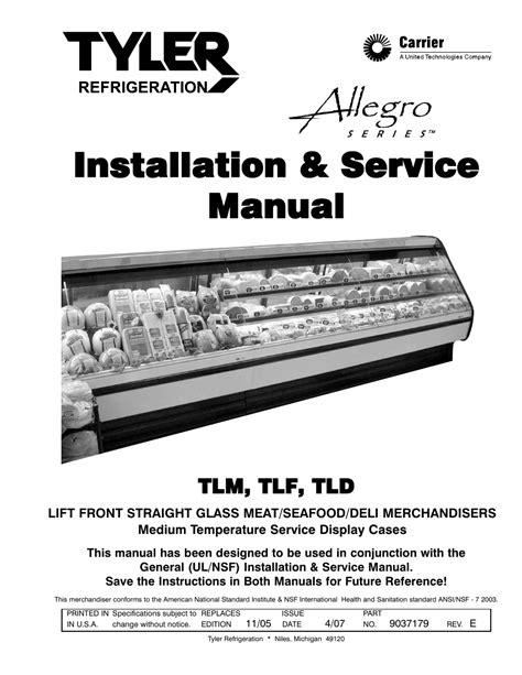 Tyler Refrigeration Case Manual