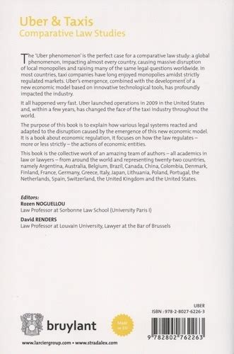 Uber And Taxis Comparative Law Studies