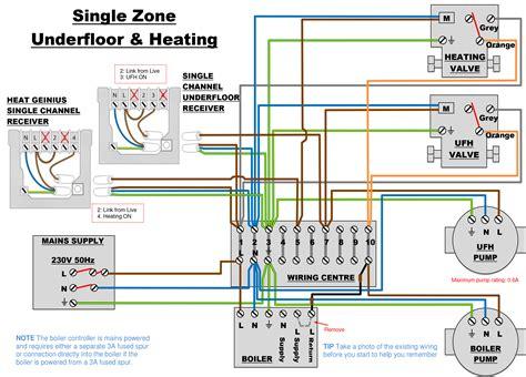 Underfloor Heating Control Wiring Diagram