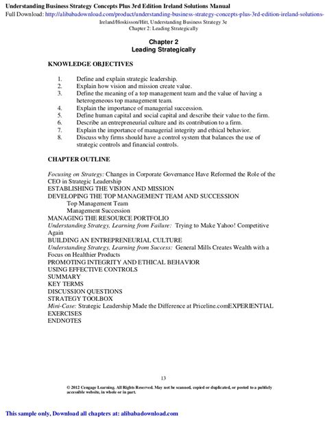 Understanding Business Strategy Concepts Plus 3rd Edition