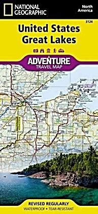 United States Great Lakes Adventure Maps National Geographic Adventure Travel Map