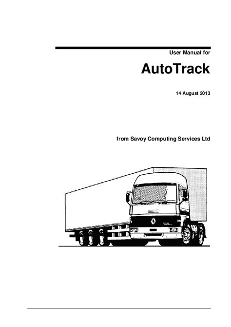 User Manual For Autotrack Ct