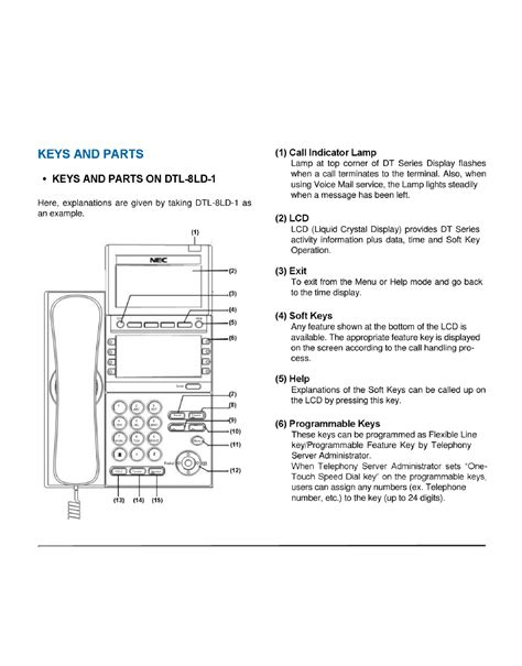 User Manual For Nec Dt300 Telephone
