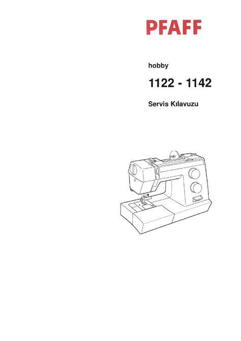 User Manual Pfaff Hobby 1122 Sewing Machines