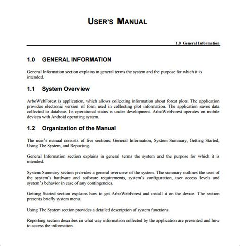 User Manual Sample For An Application