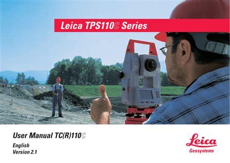 User Manual Tc R 110 Leica Geosystems