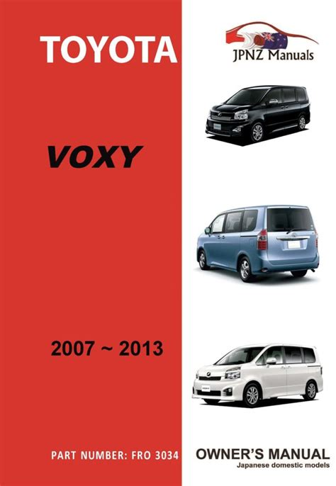 User Manual Toyota Voxy