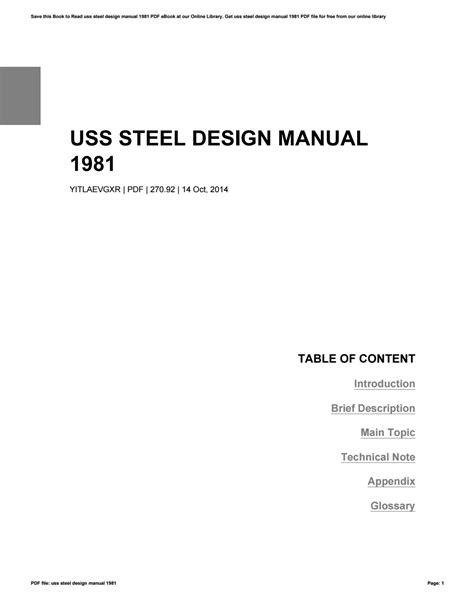 Uss Steel Design Manual