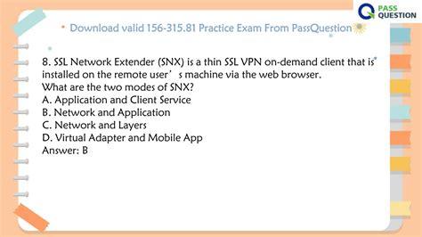 Valid 156-315.80 Exam Sample