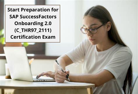 Valid Exam C-THR97-2105 Preparation