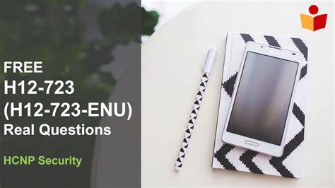 Valid H12-723-ENU Test Registration