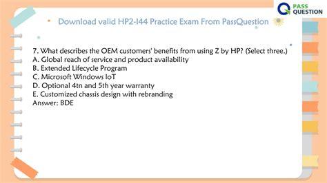 Valid HP2-I22 Mock Test
