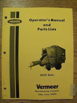 Vermeer 605 H Manual
