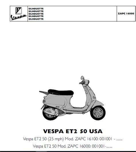 Vespa Et2 Repair Manual