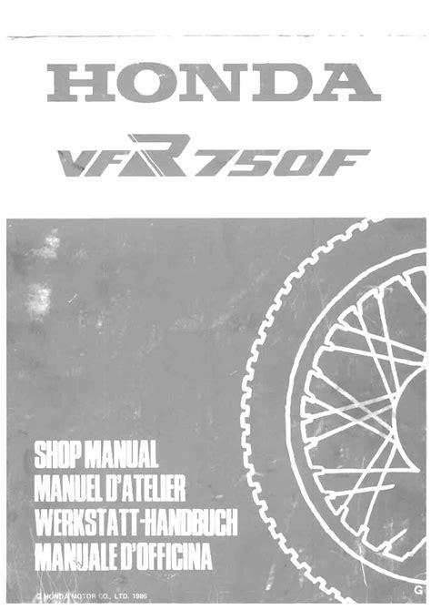 Vfr Service Manual
