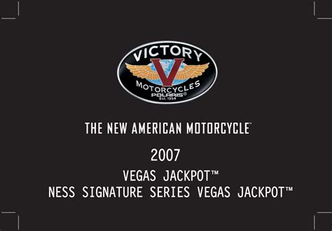 Victory Jackpot Owners Manual