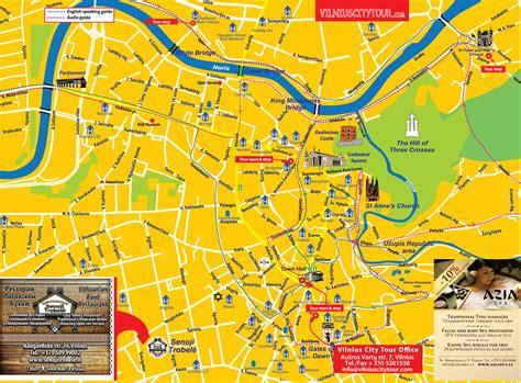 Vilnius Lithuania City Map