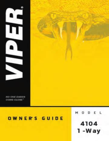 Viper 4104 1 Way Manual